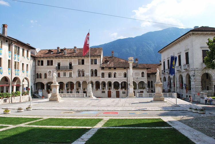 Piazza Maggiore, really beautiful - Feltre, Belluno, Italy. Architecture Architecture Belluno Building Exterior Built Structure City Day Feltre Flag History Italia Italy Outdoors Sky Square Tourism Travel Destinations Urban Veneto