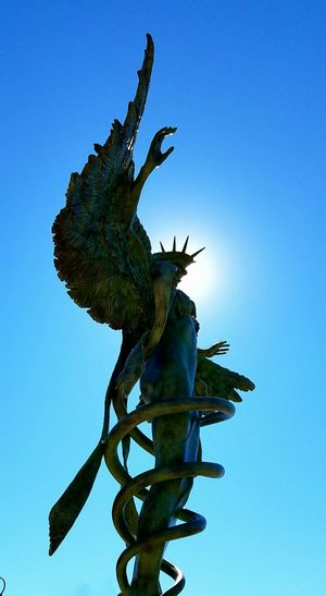 Wow, A Beautiful Statue in the Artsy town of Sedona, Az . Blue Sky Gorgeous Day