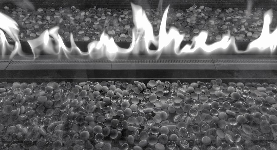 Flames Black And White B&w Pebbles Glass Beads Warm Warmth Warming Heat Simple Creativity Creative Fire Fireplace Warming Up Its Cold Outside