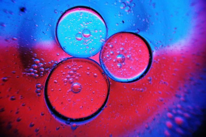 Full frame shot of water drops on raindrops
