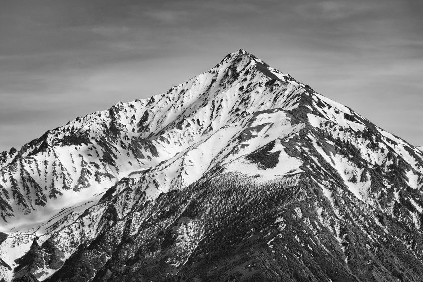 Mount Tom, Sierra Nevada. Beauty In Nature Cold Temperature Day Landscape Low Angle View Mountain Mountain Peak Mountain Range Nature No People Outdoors Peak Scenics Sky Snow Snowcapped Mountain Tranquil Scene Tranquility Winter