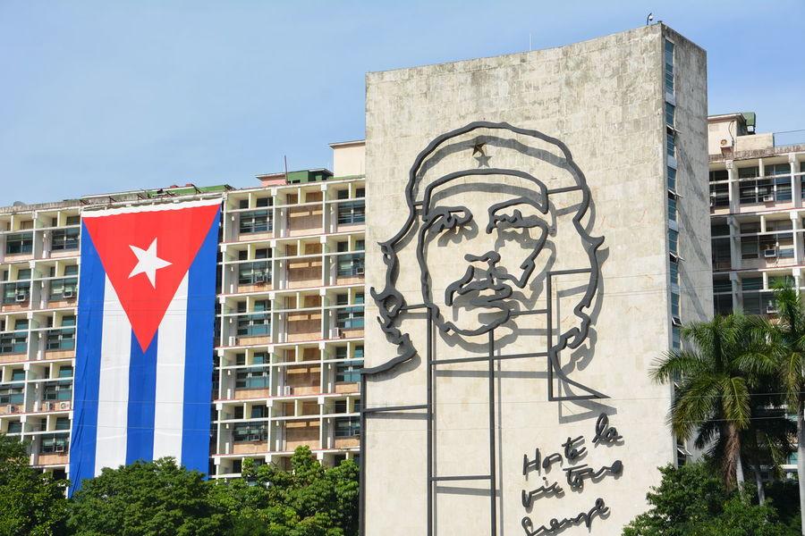 Architecture Building Exterior Che Guevara City Cuba Day Flag Havana Havana, Cuba KuBa No People Outdoors Sky Travel Destinations