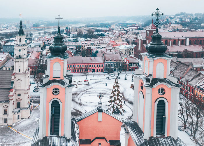 Kaunas old town, winter Kaunas City Europe Lietuva Mavic 2 Mavic 2 Pro Aerial View Aerial Drone  DJI X Eyeem Winter Kaunas Old Town Snow White Building Exterior Architecture Built Structure Building Religion Place Of Worship Spirituality Belief Day Residential District Nature No People Tower Sky Outdoors Cityscape