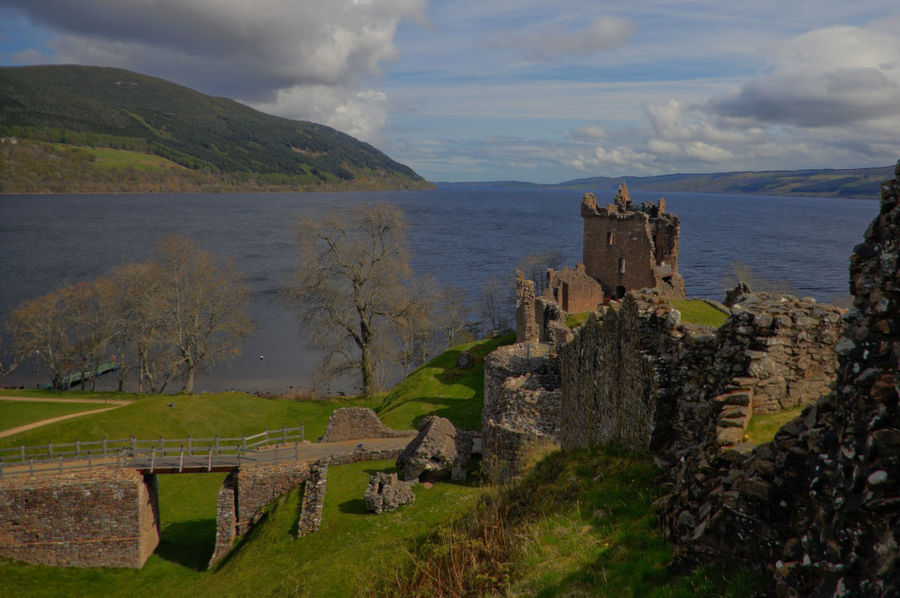 Scotland UrquhartCastle Ancient Architecture Beauty In Nature Building Exterior Built Structure Castle Cloud - Sky Day Grass History Loch Ness Mountain Nature No People Old Ruin Outdoors Scenics Sky The Past Travel Destinations Water