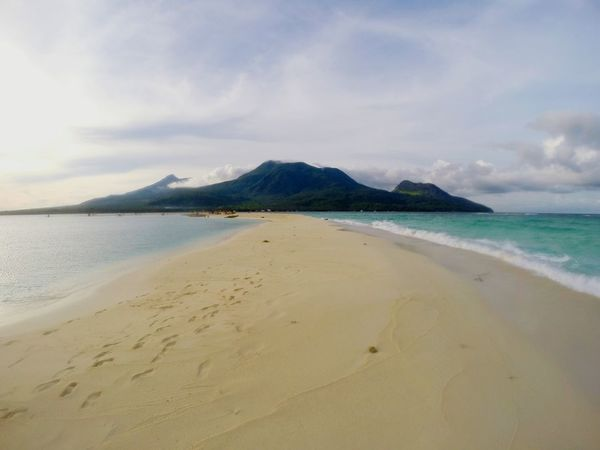 Beauty In Nature Sand Wave Beach Sea Vacations Nature Water Sky Cloud - Sky Swimming White Island Camiguin White Island Camiguin Philippines Camiguin