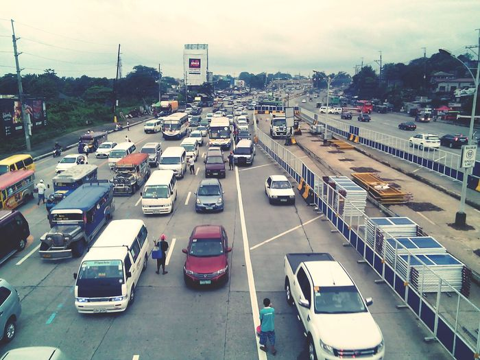 Traffic Transportation Slowmoving Land Vehicle Highway Fromthetop WheninQC