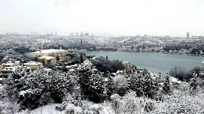 It's Cold Outside Weather Kar Hava Cold Snow Icecold Kandilli Istanbuldayasam