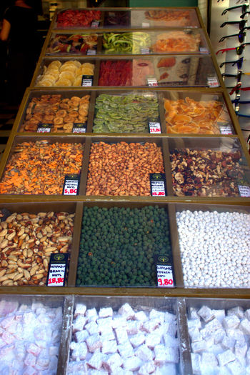 Abundance Business Finance And Industry Choice Crete Market Day Dried Fruit Food Food And Drink For Sale Freshness Indoors  Large Group Of Objects Market Market Stall Multi Colored No People Price Tag Retail  Store Text Variation Vertical