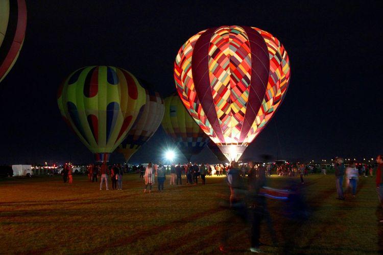 Ballooning Festival Hot Air Ballons Hot Air Balloon Hot Air Balloon Festival Hot Air Ballooning Hot Air Balloons Leisure Activity Night Outdoors Transportation