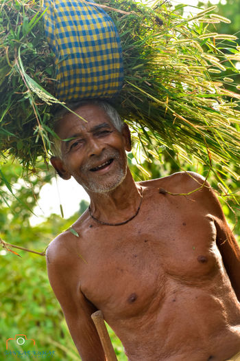 Smiling Outdoors Happiness One Person Mid Adult Adult Day People Vacations Cheerful Mature Adult One Man Only Shirtless Portrait Agriculture Nature Headshot Only Men Tree Human Body Part First Eyeem Photo