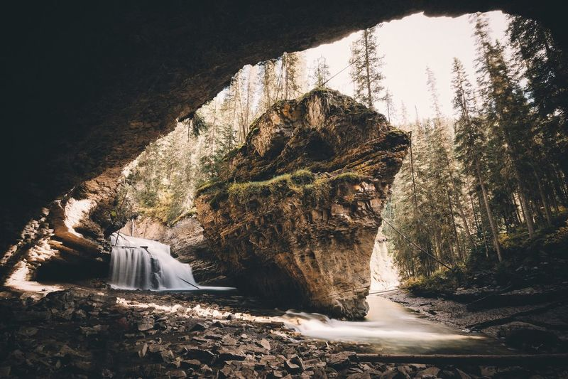 The rock. Canada VSCO Vscofilm Canyon Rock Formation Rock - Object Cave Tree Eroded Tranquility Geology Nature Solitude Tranquil Scene Rocky Mountains Cliff Remote Rocky Beauty In Nature Scenics Physical Geography Rock Day Outdoors