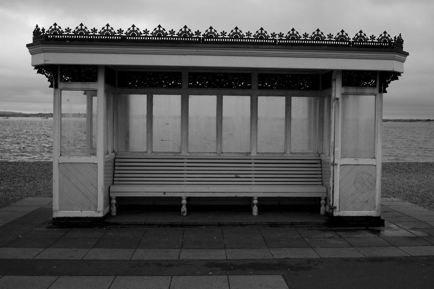 Winter Seafront Black & White Architecture Beach Blackandwhite Building Building Exterior Built Structure Day Nature No People Sea Seafront Shelter Water