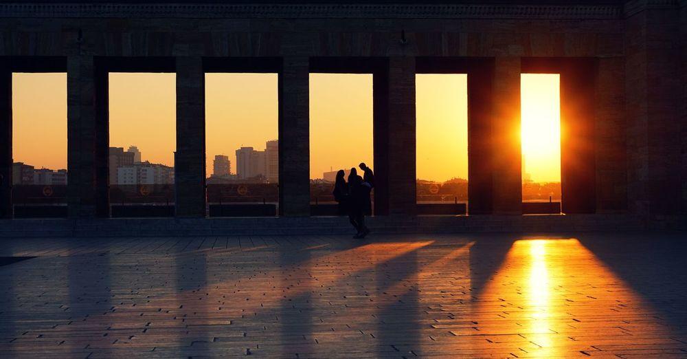 Anıtkabir'de gün batımı Ankara Anıtkabir Architectural Column Architecture Built Structure City Gün Batımı Outdoors Silhouette Sony A6000 Sunset Türkiye Urban Skyline EyeEm Selects