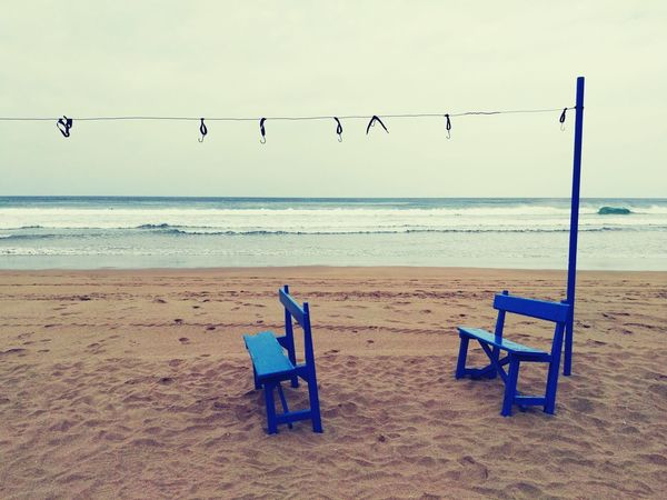 EyeEm Selects Beach Sand Sea Blue Tranquility Sky No People Horizon Over Water Day Sunny Bird Nature Outdoors Vacations Water Travel Destinations Tranquil Scene Summer Beauty In Nature Zarautz