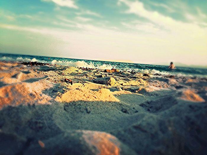 Sea Waves Sunshine Sun Sunset Blue Greece Beach Beach Photography Beach Life