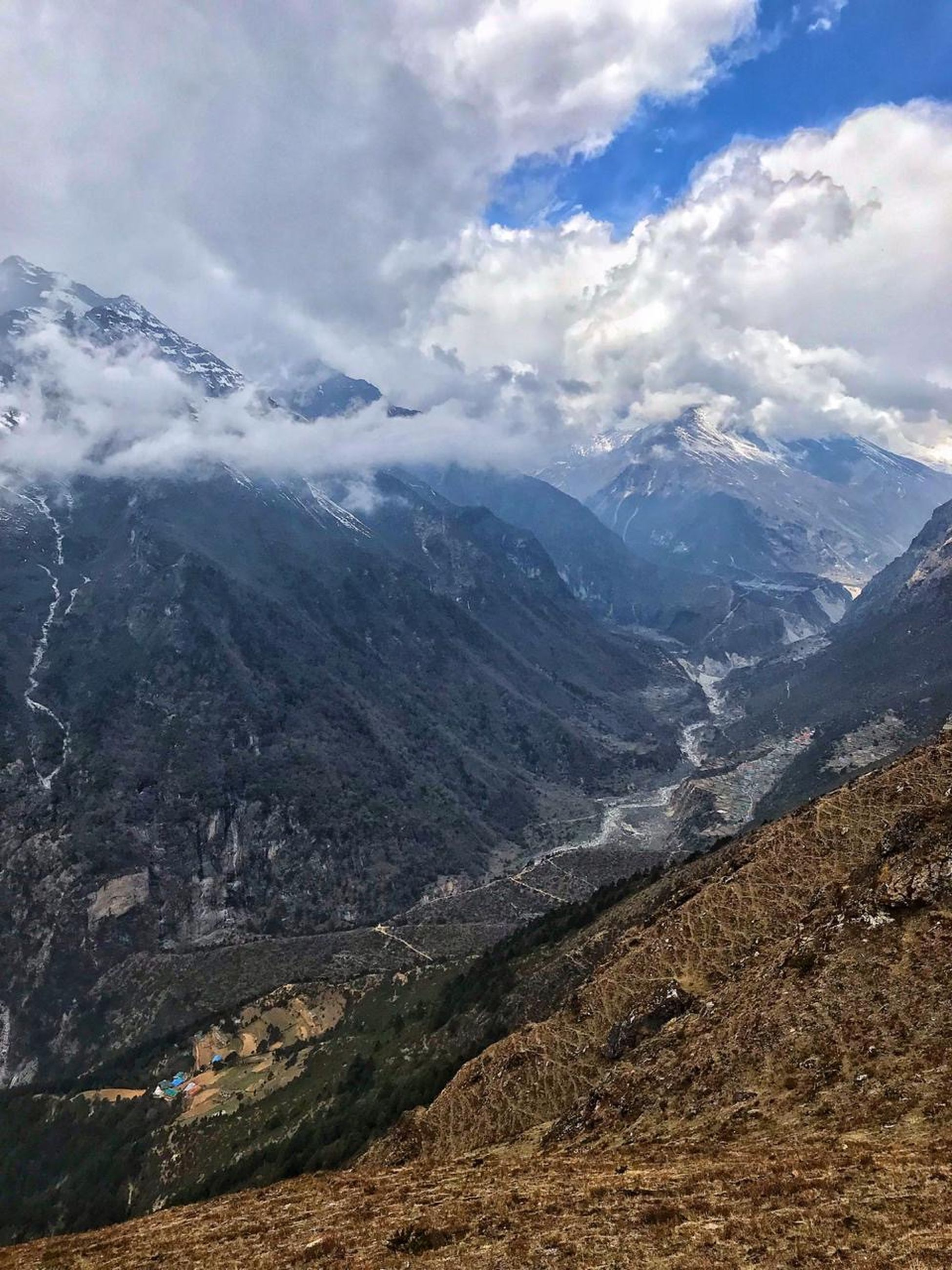 mountain, environment, landscape, sky, cloud - sky, nature, mountain range, beauty in nature, travel, scenics - nature, exploration, no people, outdoors, valley, challenge, day, land, range, mountain peak