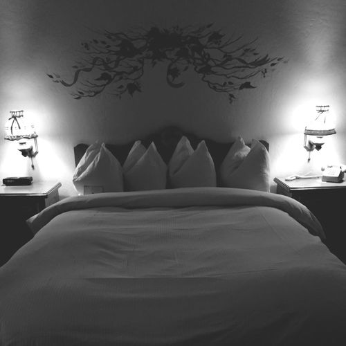Leavenworth German Village Sleepin Enzian European  Charm Thebestplace  Enzian Inn Bedlanterns Swissstyle Old-fashioned Original Experiences Blackandwhite Monochrome Photography Welcome To Black Art Is Everywhere