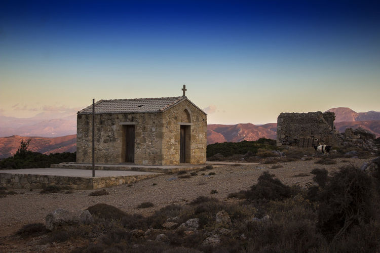 The lonely church Architecture Building Exterior Built Structure Church Churches Crete Crete Greece Day Greece Kissamos Nature No People Outdoors Place Of Worship Religion Sky Breathing Space 2018 In One Photograph
