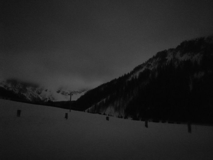 """Nigh snowy mountains"" No Filter, No Edit, Just Photography No Filters Or Effects No Filter Dolomites, Italy Blackandwhite Black And White Tranquility Silhouette Sky Outdoors Tranquil Scene Nature No People Scenics Landscape Night Cold Temperature Tree Snow Winter Beauty In Nature"