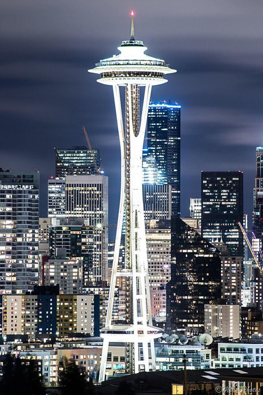 architecture, building exterior, city, travel destinations, built structure, illuminated, cityscape, skyscraper, tourism, modern, travel, sky, night, no people, outdoors, urban skyline