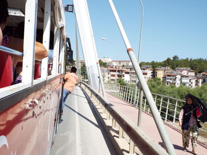 People Traveling In Bus On Zeynel Senol Bridge