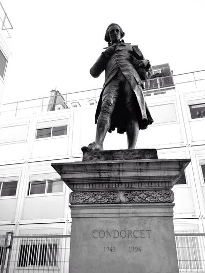 Condorcet is watching you... Blackandwhite Black And White Black & White Sculpture Architecture Open Edit Contemplating Monuments Street Photography