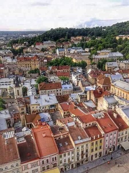 Ukraine, Lviv Panorama Old Buildings Oldtown Airplane Crash Let's Do It Chic! Cleaning My Account At EyeEm From The Rooftop
