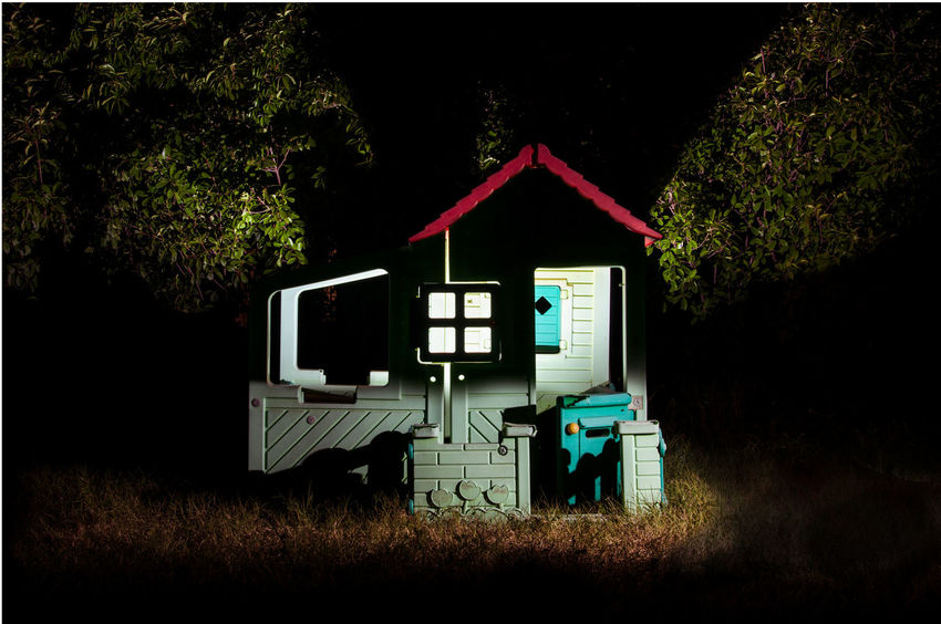 Architecture Nature Auto Post Production Filter Building Exterior House Hut Field Cabin Dark Illuminated No People Building Built Structure Night Toy Plastic House Plastic Hut Stilt House Exterior Abandoned Deterioration Obsolete