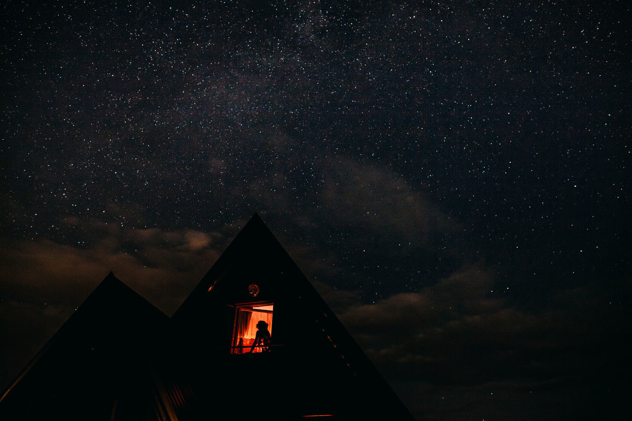 night, star - space, built structure, sky, architecture
