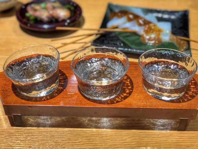 人気地酒飲み比べセット、黒龍 大吟醸、梵 特選純米大吟醸、早瀬浦 大吟醸