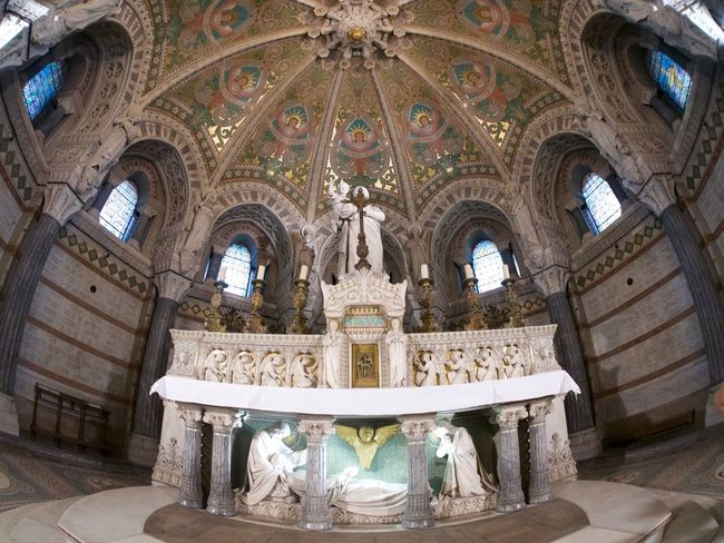 Altar Arch Architectural Column Architecture Art And Craft Belief Building Built Structure Ceiling Creativity Cupola Day Fresco Human Representation Indoors  Low Angle View Mural No People Ornate Place Of Worship Religion Representation Spirituality Travel Destinations