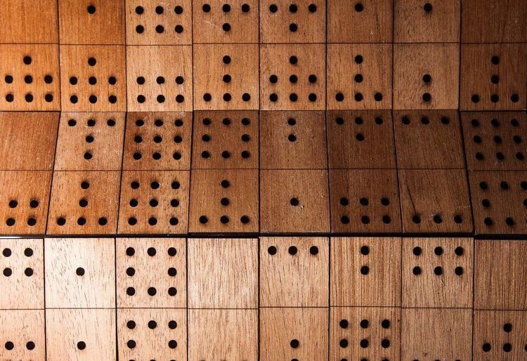 Close-Up Of Wood With Holes