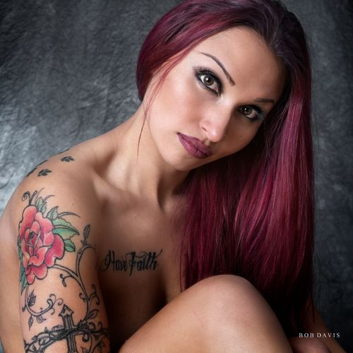 Nikon Beautiful Woman Beauty Dyed Hair Hair Leisure Activity Lifestyles Looking At Camera On1 One Person People Portrait Tattoo Women Young Adult Young Women