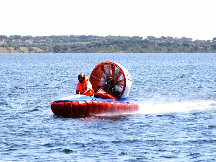 Hoovercraft Hoovercraft Campinho Alqueva Barragem Agua Water Dam Speed Motor Leisure