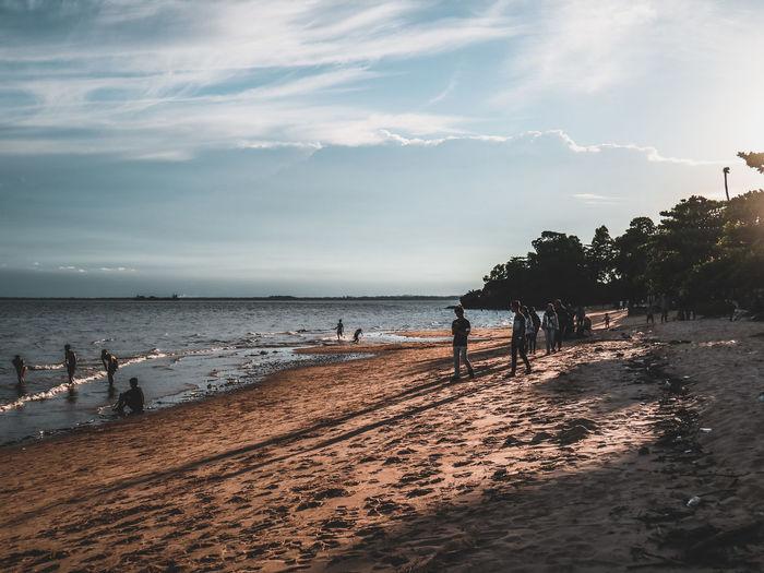 Beach vibes! Sea Sea And Sky Vibes Balikpapan INDONESIA Moodygrams Moody Water Sea Beach Bird Sand Wave Sky Horizon Over Water Cloud - Sky Coast Sunset Silhouette Sun