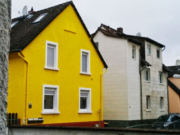 Yellow House  House Yellow Cityscape Architecture Window Buildings Built Structure
