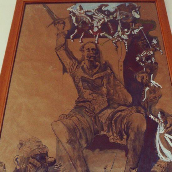 Llamale loco pero fue un gran fundador de la literatura ..... Don Quijote de la Mancha Literatura Quijote Grande Locura art arte cuadro pintura
