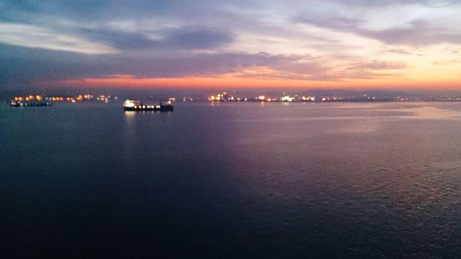 ıstanbul,turkey' Onboard' At Anchor' Niceamorning' Sea And Sky'