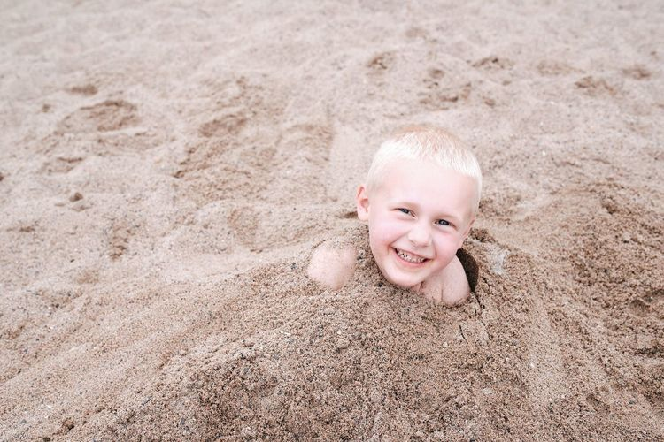 Done That. Sand Smiling Beach Child Childhood Looking At Camera Portrait Toothy Smile Happiness Children Only Fun Cheerful Vacations Day Summer One Person Outdoors Enjoyment Been There. Done That.