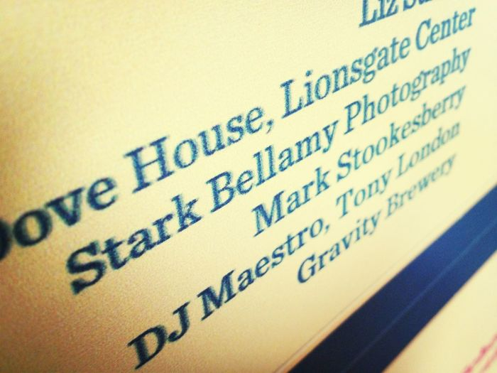 StarkBellamy.com's first charity event of the year.