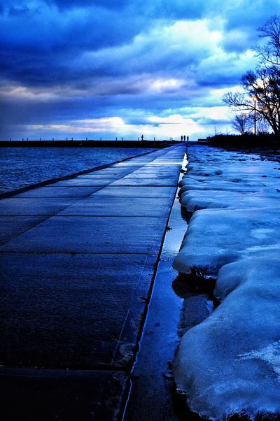 Ice Blue ... Perspective Blue Changing Weather EyeEm Best Edits EyeEm Nature Lover Lake Ontario My Cloud Obsession☁️
