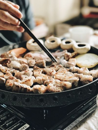 Food Food And Drink Freshness One Person Close-up Indoors  Healthy Eating People Ready-to-eat Day Korean BBQ Korean Food BBQ Family Time Family Family Dinner Lieblingsteil