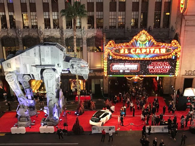 Opening night - The Last Jedi Starwars Architecture Building Exterior City Built Structure Night Large Group Of People City Life Arts Culture And Entertainment Illuminated Outdoors Crowd Neon People Adult