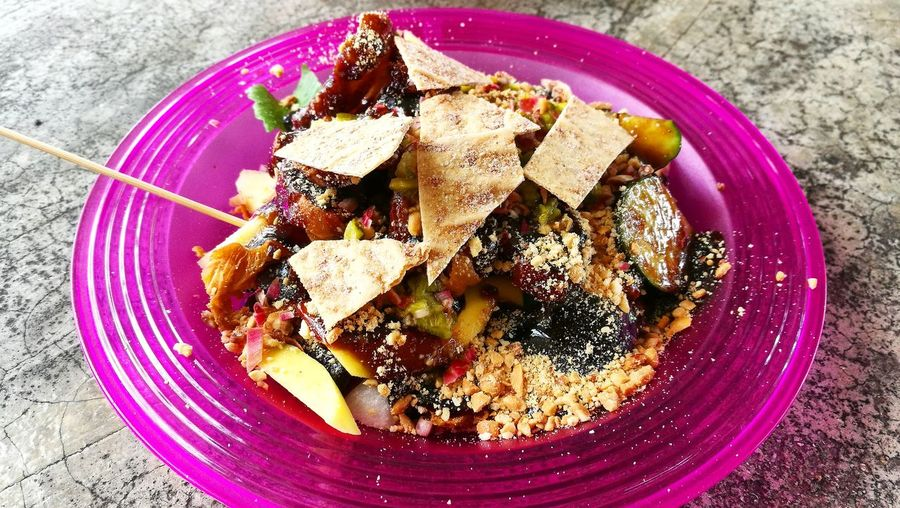 Malaysia Style Rojak Rojak Buah Rojak Fruit Salad Food Food And Drink Plate Freshness No People Ready-to-eat Serving Size Indoors  Healthy Eating Close-up Day