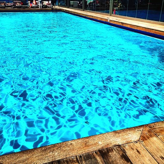 Relaxing Blue Swimming Pool