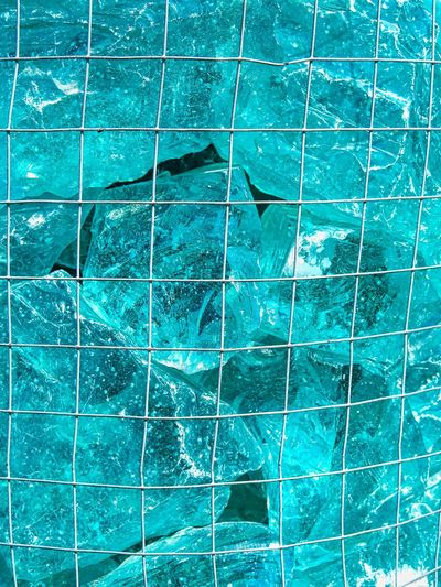 Abstract Backcloth_MSB Stone Glass - Material Full Frame Backgrounds Pattern No People Blue Abstract Tile Flooring Architecture Close-up Nature Outdoors Textured  Day Industry Built Structure Building Exterior Green Color Tiled Floor Wall - Building Feature
