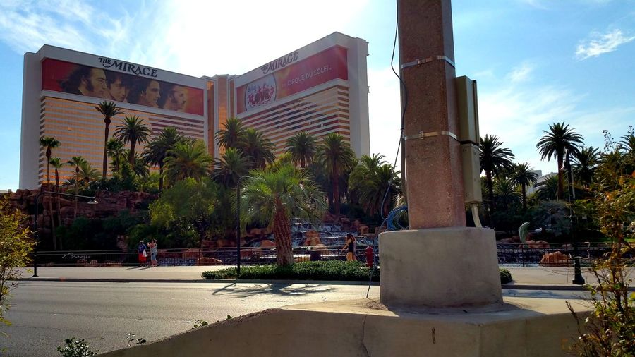 The Mirage Hotel Hotel View Mirage Hotel VEGAS🎲 Tree City Sky Architecture Fountain