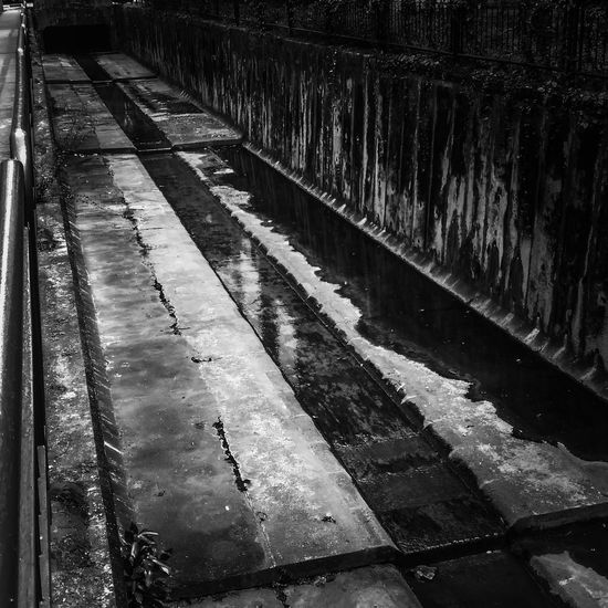Down with the Drain Lonely Monochrome Blackandwhite Photography Black And White HTC_photography HTC One Drain Down The Drain Water_collection After The Rain