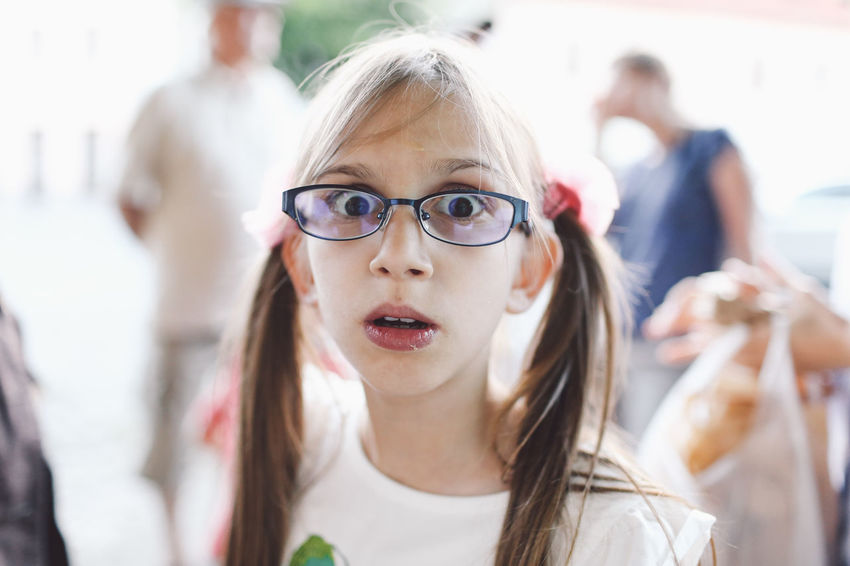 Casual Clothing Child Children Close-up Cute Day Focus On Foreground Front View Fun Girl Glasses Happiness Headshot Leisure Activity Lifestyles Outdoors Person Playing Portrait Smiling Sunglasses Toothy Smile