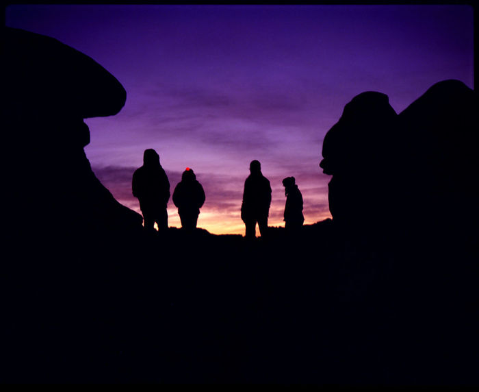 Gang in the Goblin National Park Analogue Photography Gang Goblin Goblin Valley Goblin Valley State Park, Utah Heroes Heroes & Villains Morning Silhouettes National Park Nature Plaubel Makina 67 Silhouette Stones Silhouettes Sunrise Silhouette Sunrise Colors Travel USA Utah Utah National Park Art Goblin Valley Sunrise Goblins Medium Format Outdoors